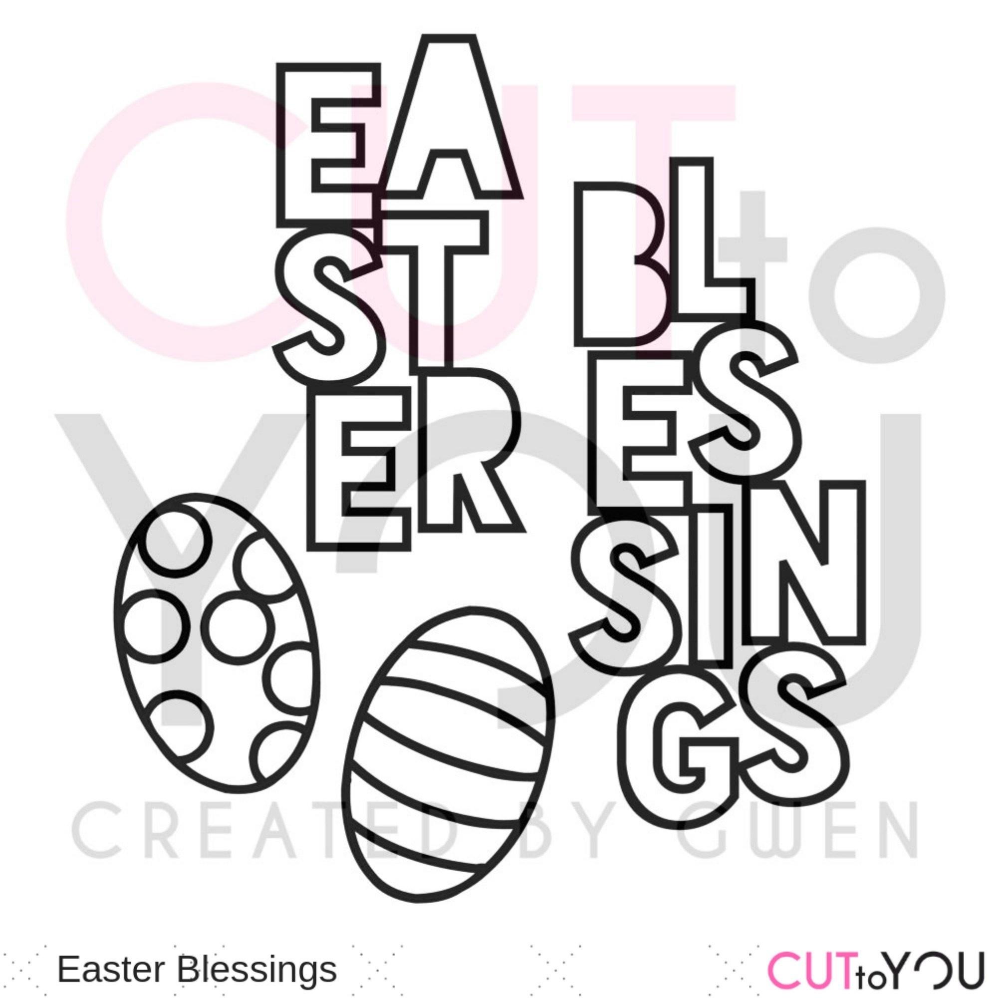 Easter Blessings Piroska Czako Radvanyi Unique Digital Cut Files